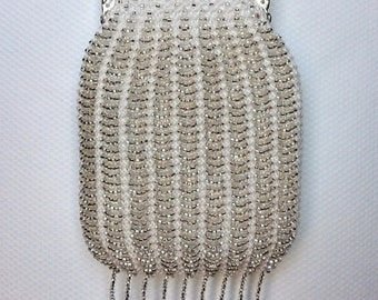 Custom Purse, Bridal Purse, Evening Purse, Coin Purse, Beaded Purse, Wedding Purse, Evening Clutch, Bead Knitted, Handmade, Czech Beads