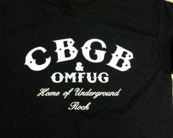 CBGB T-shirt: Men's & Ladies, S-3XL