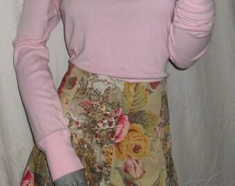 Elevenses/Anthropology/Anthropologie Floral Knee Length Skirt Sz. 10