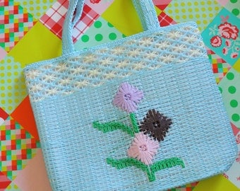 1970s Baby Blue Shoulder Bag