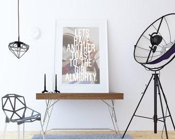 Girl Almighty | One Direction Printable | Lyrics Print | 8.5 x 11 | Wall Decor | 1D Print