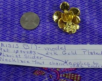 Risis 24k Gold Plated Lariat sSider. Model 3i