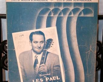 1948 Whispering//Music By John Schonberger//Lyrics By Malvin Schonberger//Vintage Sheet Music