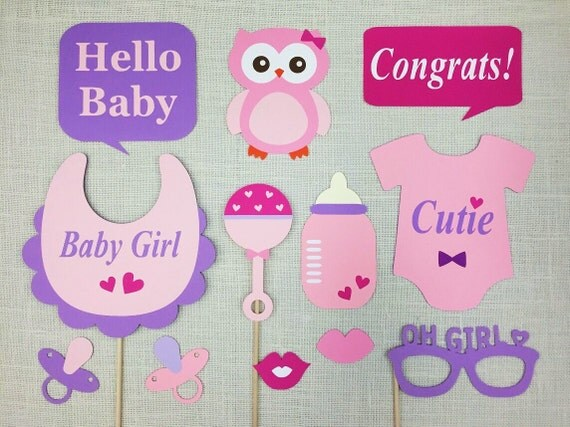 girl baby shower photo props baby owl themed shower baby girl