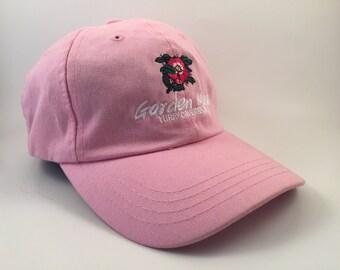 """Pink """"Garden Mage"""" Flower Graphic Dad Hat 90s"""