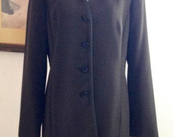 Sophisticated boyfriend jacket. Small / Medium  Long   Mid-Weight   Spring/ Fall