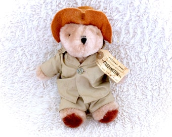 1975 Paddington Bear Jungle Safari Beige Outfit WITH TAGS Euc Plush Teddy Eden Plush Plushie Stuffed Animal Scarce 70s 1970s Retro Vintage