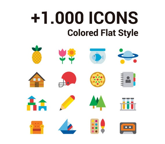 1000 color icons icon clipart vector icons flat icons 1000 icons basic icons flat icons 1000