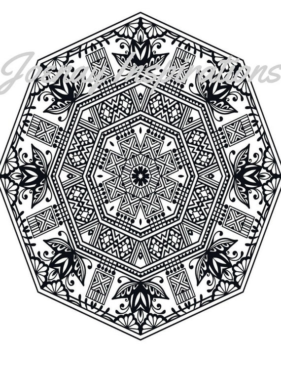 Adult Coloring Book, Printable Coloring Pages, Coloring Pages, Coloring Book for Adults, Instant Download Magnificent Mandalas 3 page 10