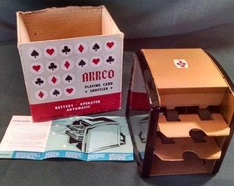 Vintage 1960's Arrco Playing Card Shuffler no. 750 , Card Shuffler, Arrco, playing cards, Shuffler, Cards, Automatic Shuffler, Father's Day