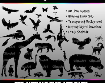 Zoo Animals Silhouettes (103 Images!)