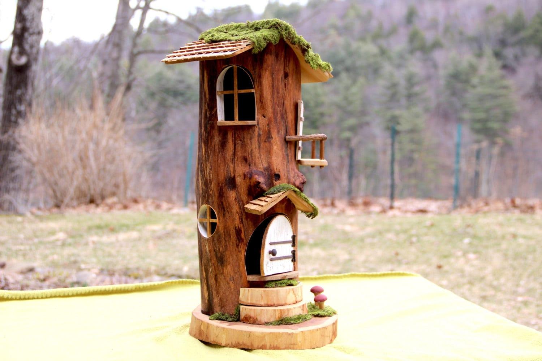 Hollow Log Fairy House
