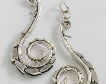 Dragon-skin points Rims these Big Swirling Spiral Earrings