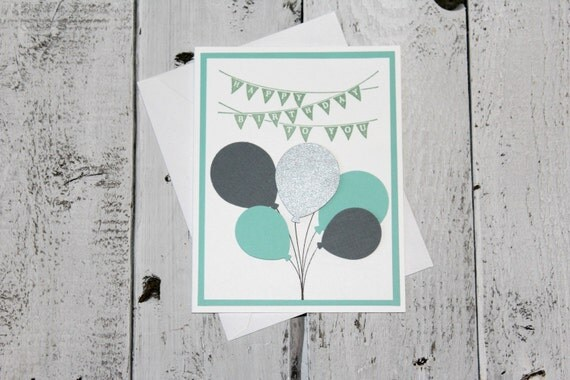 Handmade Balloon Bouquet Birthday Card