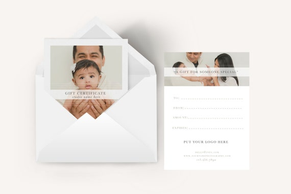 5x7 Family Photography gift certificate template-Newborn photography ...: https://www.etsy.com/listing/294912465/5x7-family-photography-gift...