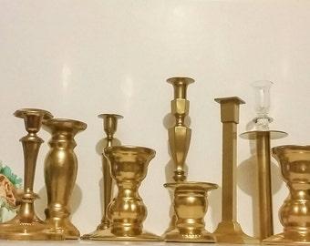 Gold Candlesticks, wedding candle holders, Vintage Candlesticks, Candle holders, Centerpiece, Wedding Decorations, Quincenara