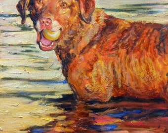 Custom Pet Portrait in oil of your dog, cat, horse, cow, bird or any animal
