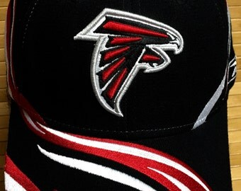 Atlanta Falcons Reebok Unique Style One Size Fits All Fitted Cap (BLKFB1A3)