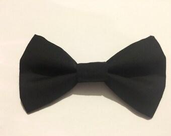 Black Clip On Bow Tie