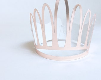 Mini Rose Gold Paper Crown | 1st Birthday Party Crown | Birthday Girl Crown | Photo Shoot Crown | Rose Gold Party | Photo Prop Birthday Girl