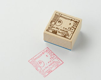 Chamil Garden Wood Rubber Stamp - HOURS E14