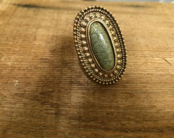 Green and Bronze Ring
