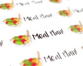 Meal Plan Stickers (Glossy or Matte Stickers)