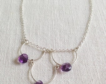 Abigail Necklace [amethyst, sterling silver]