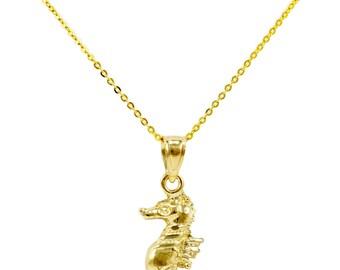 14k Gold Seahorse Pendant 1003-27