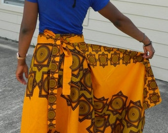 Ankara Wrap Skirt