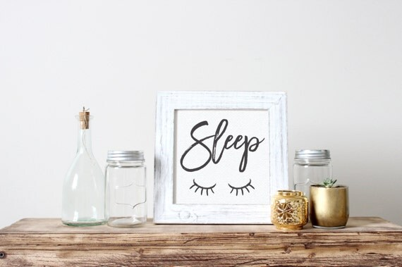 Printable Art, Bedroom Quote, Sleep, Motivational Print, Typography Quote, Art Prints, Digital Download Print, Quote Printables