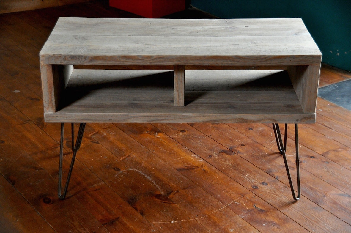 Reclaimed Wood Coffee Table Tv Stand Hairpin Steel Legs