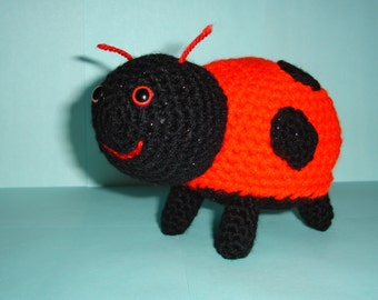 Ladybird Ladybug, Amigurumi Ladybird, Crochet Ladybird in Red and Black Handmade Soft Toy