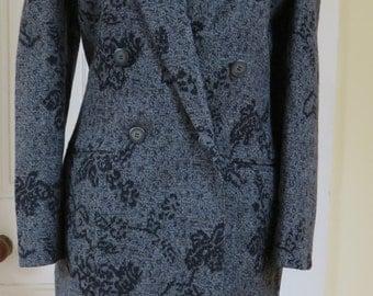 Mondi Vintage  Virgin Lambswool Skirt Suit - UK Size 12