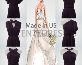 Purple Wrap Dress,Long Wrap Dresses,Convertible Wrap Dress,Twist Wrap Dress,Floor-Length Wrap Dress,Purple Dress,Wrap Dresses