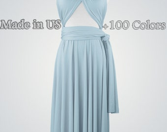 Infinity dress short Bridesmaid dress bridesmaid dresses aqua Convertable dress Wrap dresses Infinity dresses Multiway dress
