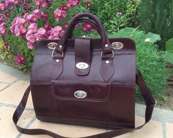 Large brown leather bag