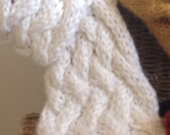 Cabled Knit Scarf