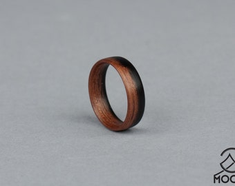 macassar ebony bentwood ring handmade wood ring mens wooden ring womens wooden ring - Wood Wedding Ring
