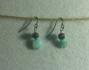Turquoise Colored Drop Earrings