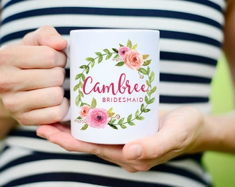 Bridesmaids Cups, Bridesmaids Mugs, Bridesmaid Gift, Bridesmaid Proposal Mugs, Will you be my bridesmaid, Wedding Mug, personalized Gift,