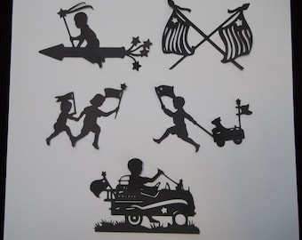 4th of July Silhouettes - 4th of July die cuts