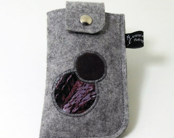 Case phone (standard format), felt case, grey case, pressure, belt, unique piece tab