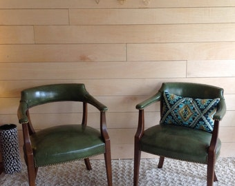 Pair of Vintage 1960's Lounge Chairs with Nailhead Detail