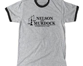 Daredevil Nelson and Murdock Ringer t-shirt, Marvel comics tee shirt