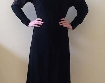 Amazing 30s/40s Black Evening Dress Size XS-S
