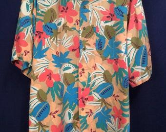 Excellent Vintage Aloha Shirt Sz XL