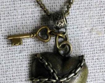 Unchain My Heart Necklace, Funky Unique Jewelry, Make an Actual Statement Necklace, Free Shipping Jewelry