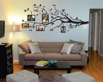 Wall Decor vinyl sticker / vinyl decal/ wall decal / wall sticker - Tree branch to use with picture frames