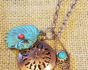 Native American Diffuser Necklace